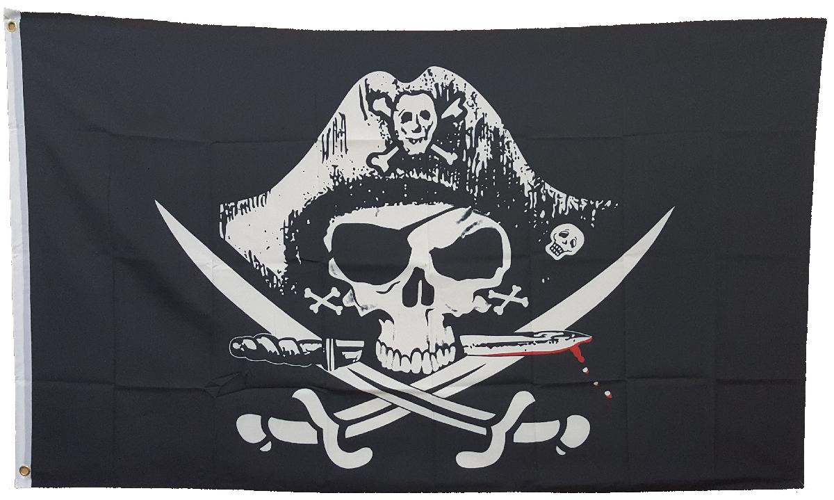 3X5 FLAG - PIRATE - DEADMANS CHEST