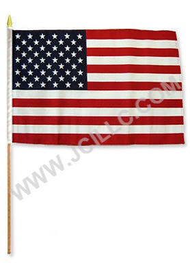 12X18 STICK FLAG - USA