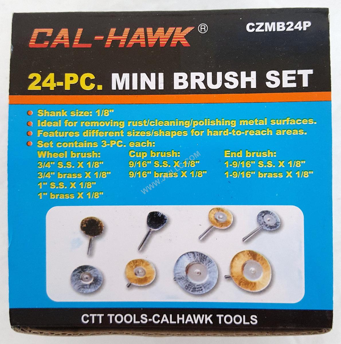24PC 1/8 INCH SHANK MINI WIRE BRUSHES, Tools Cutting Tools Wire ...
