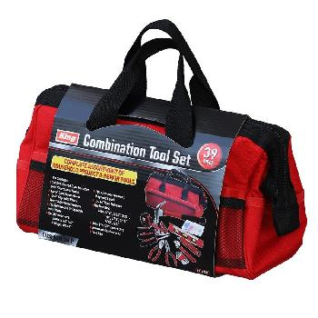 39PC COMBINATION TOOL KIT WITH BAG
