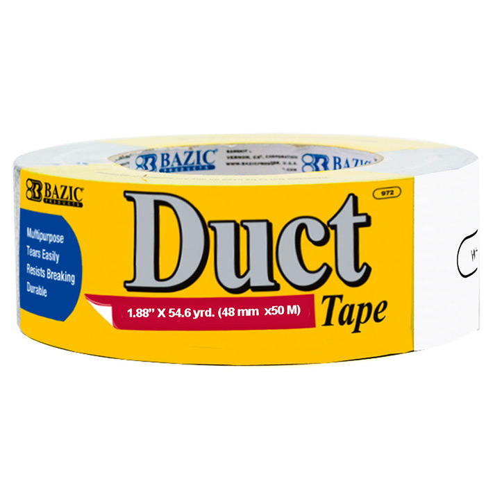 BAZIC DUCT TAPE 2 INCH X60YD WHITE