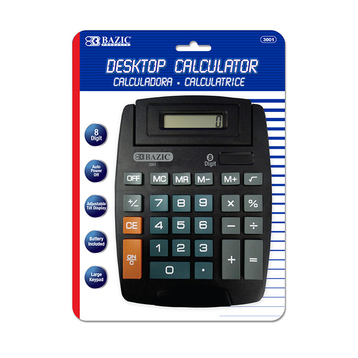 BAZIC LARGE DESKTOP CALCULATOR