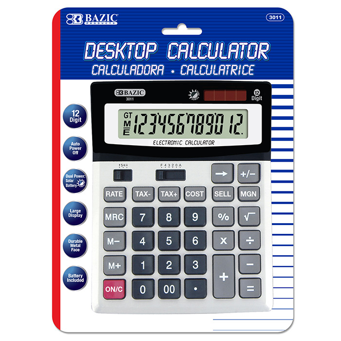 BAZIC 12 DIGIT PREMIUM CALCULATOR