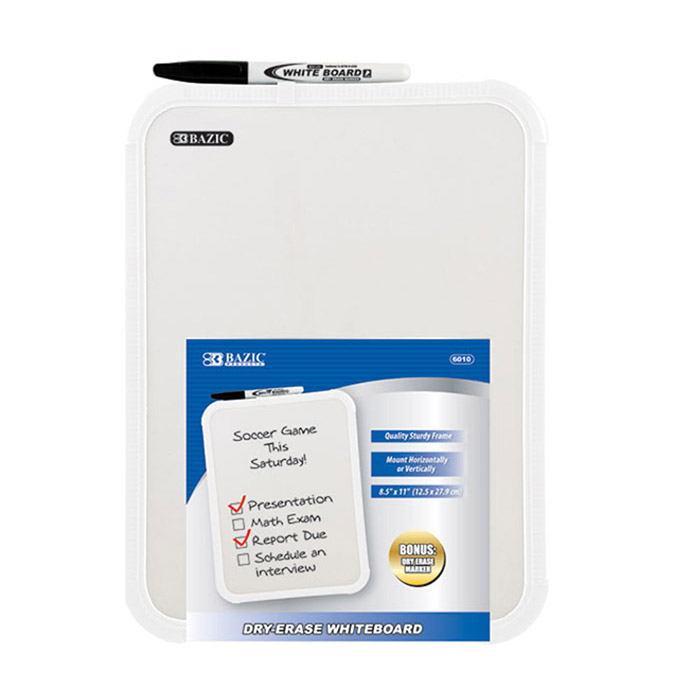 BAZIC 8.2X11 DRY ERASE BAORD WITH PEN