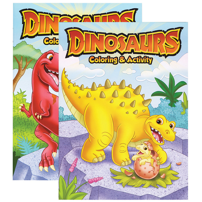 DINOSAURS COLORING ACTIVITY BOOKS