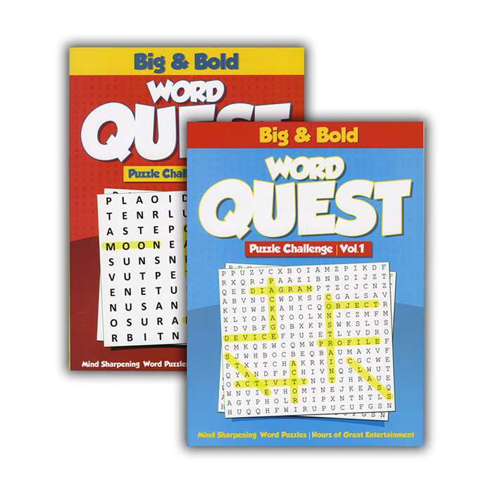 BIG & BOLD WORD QUEST PUZZLE BOOKS