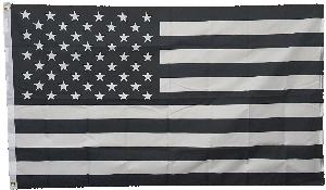 3X5 FLAG - USA - BLACK/WHITE