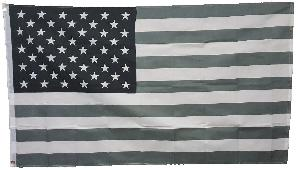 3X5 FLAG - USA - BLACK/WHITE/GREY