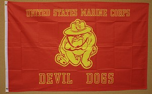 3X5 FLAG - MARINES DEVIL DOGS