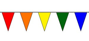 30' SOLID COLOR PENNANT STRIN