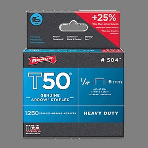 T50 STAPLES 1/4 INCH  1250/BX