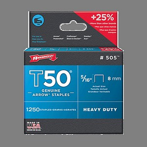T50 STAPLES 5/16 INCH  1250/BX