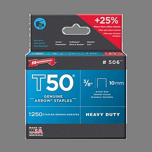 T50 STAPLES 3/8 INCH  1250/BX