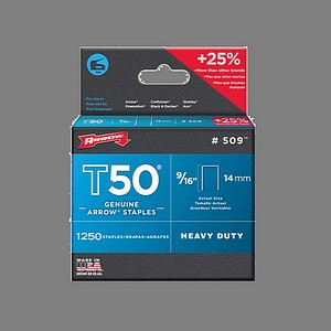 T50 STAPLES 9/16 INCH  1250/BX