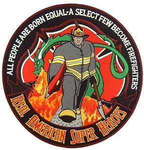 12 INCH  PATCH-FIREMAN SUPER HERO