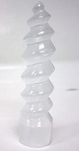 6 INCH -7 INCH  SELENITE SPIRAL LARGE