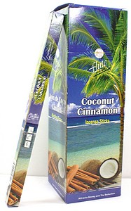 INCENSE 8PK COCONUT CINNAMON