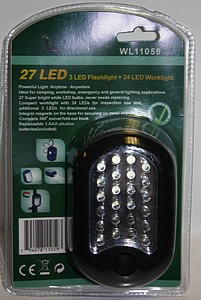 27 LED WORKLIGHT/FLASHLIGHT