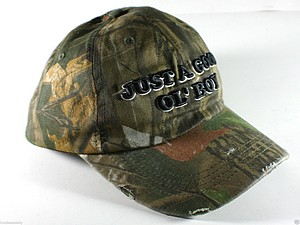 BALL CAP  INCH GOOD OL BOY INCH  GREEN CAMO