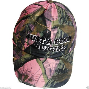 BALL CAP  INCH GOOD OL GIRL INCH  PINK CAMO