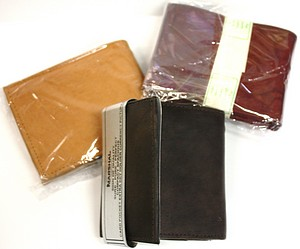 12PC LEATHER WALLET ASST