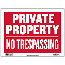 SIGN-12X16-PRIVATE PROPERTY