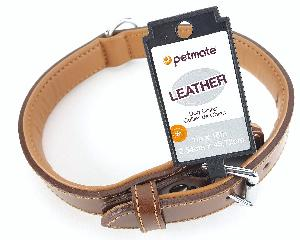 1 INCH X 14 INCH BLACK LEATHER DOG COLLAR