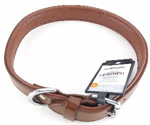 1 INCH X 20 INCH BROWN LEATHER DOG COLLAR