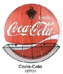 "14"" COCA COLA CAP CATCHER BOTTLE OPENER"