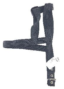 "1"" DOG HARNESS - BLACK"