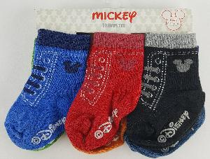 6PK MICKEY MOUSE GRIPPY SOCKS