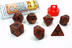BRONZE 7PC POLYHEDRAL DICE SET - ROLE PLAYING