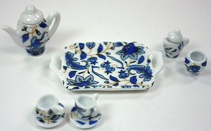 LITTLEST TEASET BLUE FLOWERS