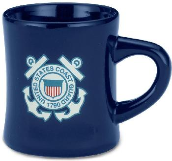 12 OZ STONEWARE DINER MUG - US COAST GUARD