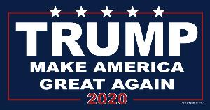 CAR MAGNET-MAKE AMERICA GREAT