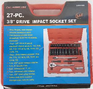 27PC 3/8 DRIVE PROFESSIONAL IMPACT SOCKET SET