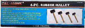 4PC RUBBER MALLET SET