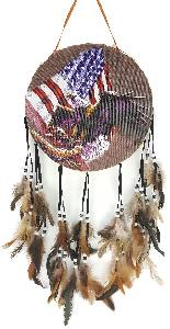 INDIAN DRUM - EAGLE/FLAG