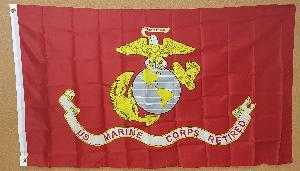 FLAG - MARINES RETIRED 3 FOOT X 5 FOOT