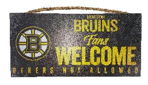 BRUINS FANS WELCOME SIGN