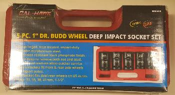 5PC 1 INCH DRIVE BUDD WHEEL DEEP IMPACT SOCKET SET