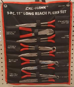 9PC 11 INCH LONG REACH PLIER SET