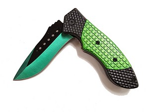 CHECKER BOARD GREEN KNIFE