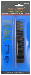 10PC 3/8 INCH  DRIVE FEMALE IMPACT SOCKET SET