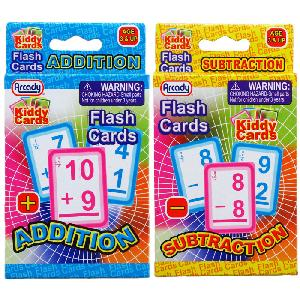 28PC LEARNING FLASH CARDS ( + & - ) IN PEGABLE COLOR BOX