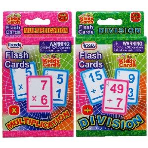 28PC LEARNING FLASH CARDS ( X & / ) IN PEGABLE COLOR BOX