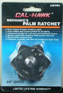 PALM RATCHET - 3/8 INCH DRIVE - CHROME PLATED