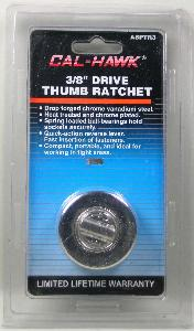 THUMB RATCHET - 3/8 INCH DRIVE - CHROME PLATED