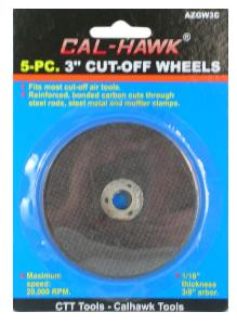 5PC 3 INCH CUTTOFF WHEEL - CARDED