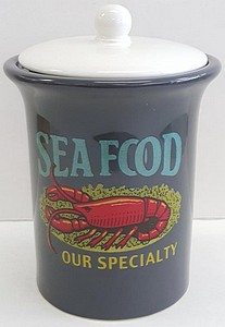 9 INCH  SEAFOOD DESIGN CANISTER/COOKIE JAR